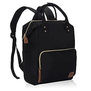 Veegul Wide Open Multipurpose School Backpack Lightweight Travel Bag 20L Black