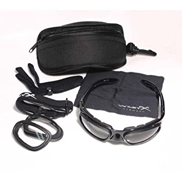 d95a164c0b1 Amazon.com  Wiley X SG-1 Frame Only Matte Black w Temples and Strap ...