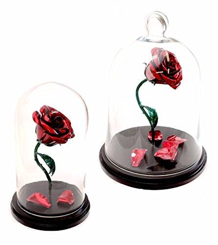 Handmade Enchanted Aluminum Metal Rose - Beauty and the Beast replica plus custom engraving by Aluma Flowers