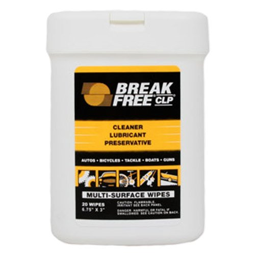 Break-Free BFI-WW CLP Multi-Surface Wipes (20-Sheets),  6.75 x 3-Inch, Health Care Stuffs