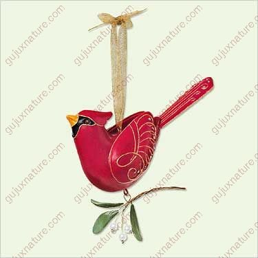BEAUTY OF BIRDS #1 NORTHERN CARDINAL 2005 Hallmark Ornament QX2135 by Hallmark