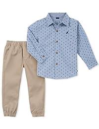 Nautica Sets (KHQ) Conjunto de 2 Piezas de Pantalones y Camisa para niños