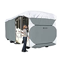 Classic Accessories 77663 PolyPro III Grey Deluxe Class A Extra Tall RV Cover, Fits 33' - 37' RVs