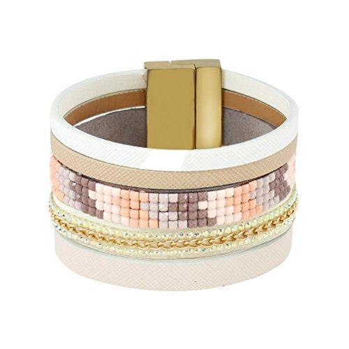 (Superhai Bohemian Personality Simple Wild Multicolor Acrylic Diamond Chain Bracelet Alloy Bracelet)
