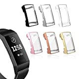 YiJYi Compatible with Fitbit Charge 3 Screen Protector, Soft Slim Full-Around Protective Fitbit Charge 3 Case Cover for Fitbit Charge 3 and Fitbit Charge 3 SE(6 Pack)