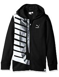 PUMA Boys Boys' Full-Zip Fleece Hoodie Hooded Sweatshirt