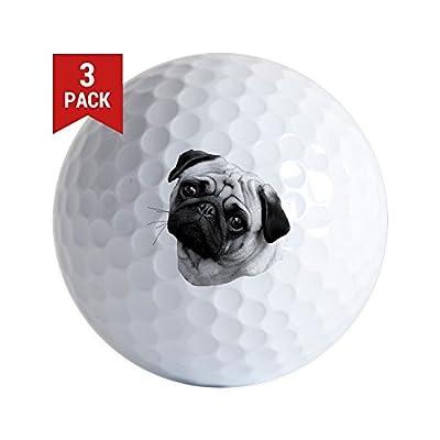 CafePress - Pug - Golf Balls (3-Pack), Unique Printed Golf Balls