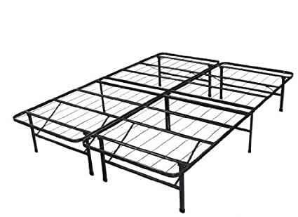 Amazon.com: Spa Sensations Steel Smart Base Bed Frame, Black (Queen ...