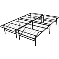 Spa Sensations Steel Smart Base Queen Bed Frame, Black