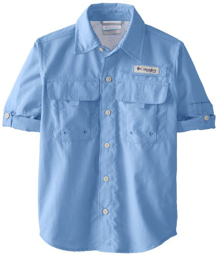 Columbia Boy's Bahama Long Sleeve Shirt (Children), White Cap, - Sleeve Long Bahama