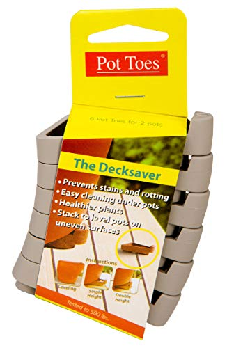 IGC Cartanna PT-06LGCS Bosmere Pot Toes, Terra-Cotta (Pack of 6)