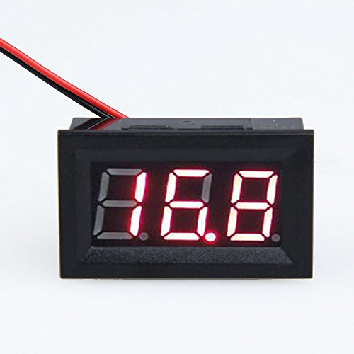 Openuye DC 3.2-30V LED 0.56inch Panel Meter Digital Voltmeter with Two-wire