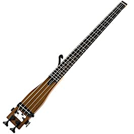 Bass Guitar,Anygig Portable Backpacker Travel Guitar 4 Strings 34 inches Scale 2 Way Truss Rod Brown