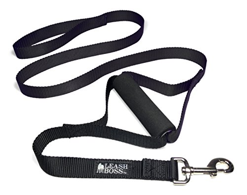 Leashboss Lite - Two Handle Training Leash for Large Dogs - Heavy Duty Double Traffic Handle Lead -