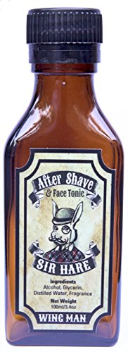Sir Hare Aftershave Cologne Splash (Wing Man fragrance) - helps reduce razor bumps, soothes skin, and smells great.