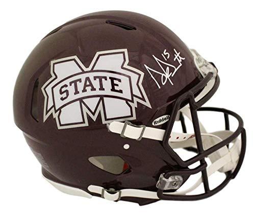 Dak Prescott Autographed Mississippi State Speed Proline Helmet JSA ()