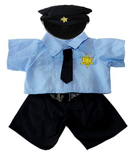 Policeman Uniform Outfit Teddy Bear Clothes Fits Most