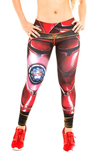 Fiber Leggings Superhero Yoga Pants Women's Compression Tights (Iron Man) (Best Ironman Costume)