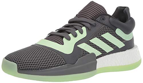 adidas Men's Marquee Boost Low Basketball Shoe Carbon/Glow Green/Grey 11 M US