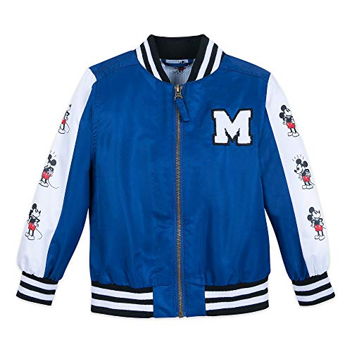 Disney Mickey Mouse Varsity Jacket for Boys Size 4 Blue]()
