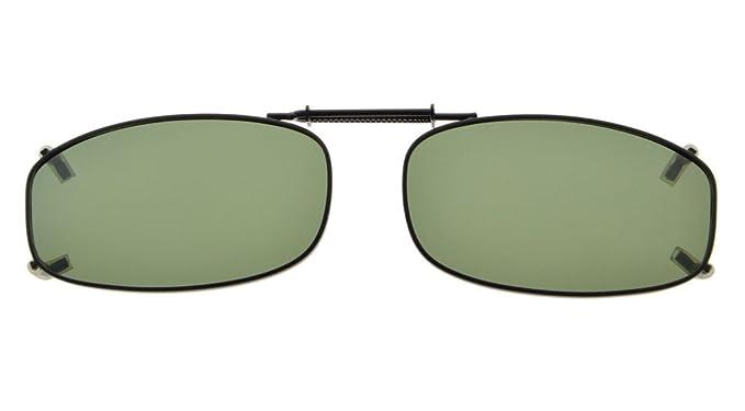 Eyekepper Marco de metal borde polarizado lente clip en gafas de sol 48x27MM Lente G15