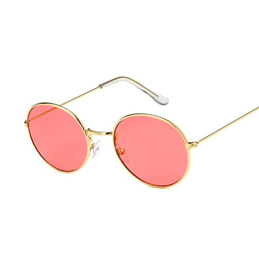 Yangjing-hl Gafas de Sol Redondas de Espejo de tamaño ...