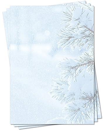 Motivpapier Briefpapier Winter Weihnachten schöne Winterlandschaft  50 Blatt  A4