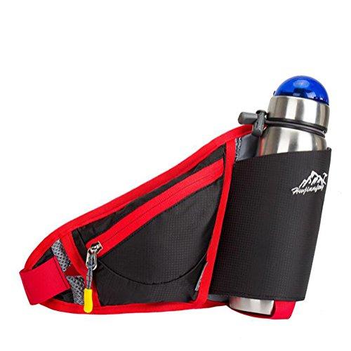 Wmshpeds Ultra-fina ejecución móvil personal fitness fitness stealth satinado bolsa anti-robo de una botella de agua al aire libre exterior pequeños bolsillos E