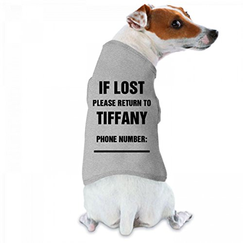 If Lost Please Return To Tiffany: Doggie Skins Dog Tank - Tiffany Returns