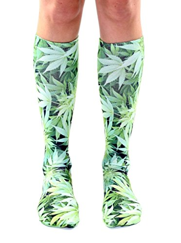 Living Royal Green Weed Knee High - Shop Aus Online