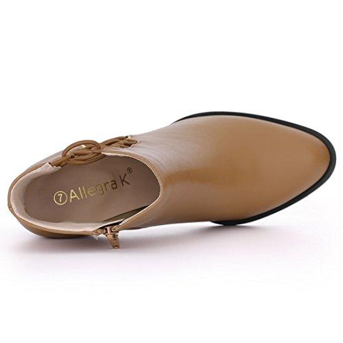 Brown Women's K Ankle Allegra Cutout Boots XFWvHq