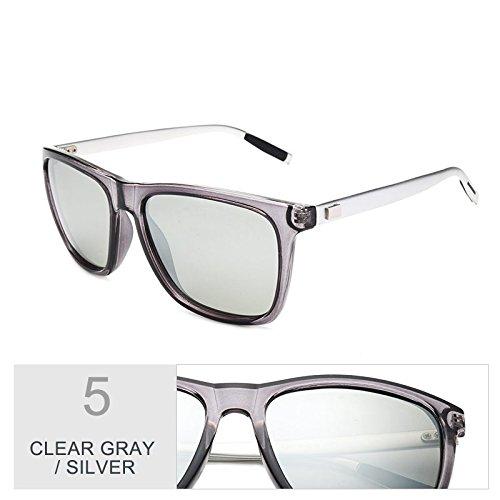 De Con Clear Gafas Sol De Uv400 Guía La Polarizadas Gafas Gafas Negro Aluminio Visión Patas Nocturna Envuelva TIANLIANG04 Hombres Gray Silver Cuadrados Protección De Sol De De De Verdeoscuro vqFBax5w
