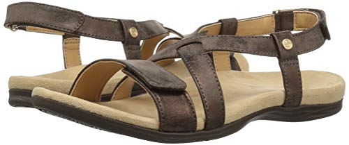 Women''s Cross Sandal Brown Dark Strap Spenco AqdSA