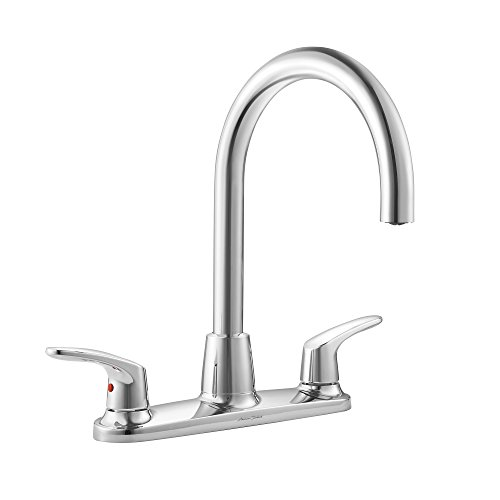 American Standard 7074550.002 Colony Pro Two-Handle High-Arc Kitchen Faucet Less Sray in Polished -