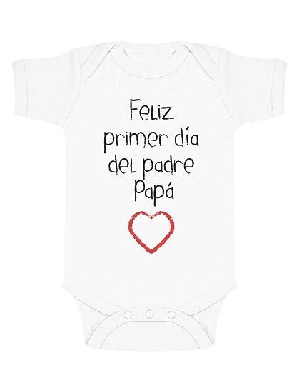 Body de Manga Corta para bebé - Feliz Primer Día del Padre - Regalo para Papá en su Día