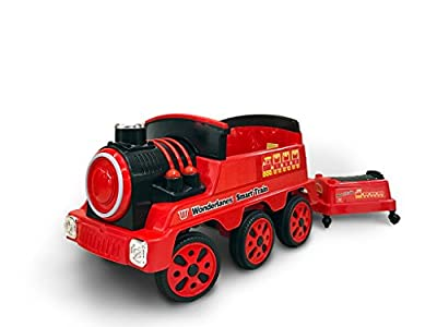Wonderlanes 12V Ride On Train with Trailer, Battery Powered Wheels by Beyond Infinity