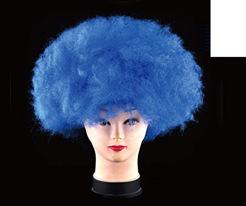 Halloween party head/ curly clown wig/ encryption with light wig-D (Scary Smiling Clown)