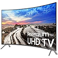 SAMSUNG UN55MU850DFXZA LED Curved 4K 240 MR Full HD Smart TV, 55 (Certified Refurbished)