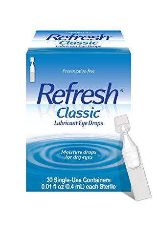 Refresh Classic Lubricant Eye Drops, 30 Single-Use Containers, 0.01 fl oz (0.4mL) each Sterile