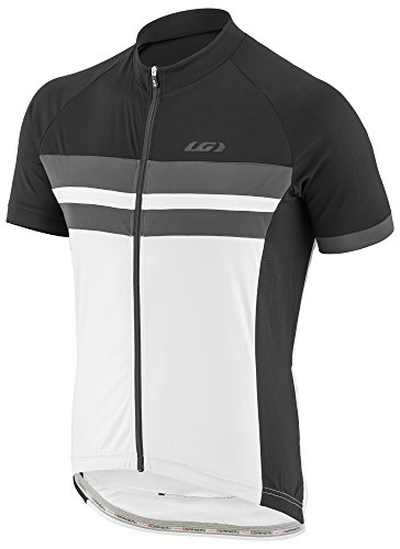 Louis Garneau Sleeveless Jersey (Louis Garneau Men's Evans Classic Lightweight, Short Sleeve, Full Zip Cycling Jersey, Black/Gray, XX-Large)