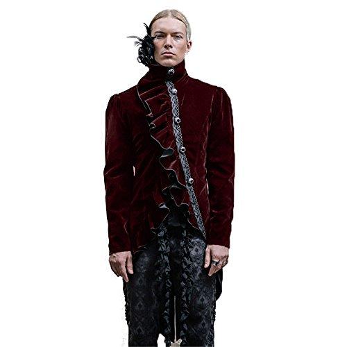 Uomini Spessa Fashion Manica Punk 6 A In Gothic Giacca Devil Gli Invernale Lana Lunga Misure Per Oq1dHKyc