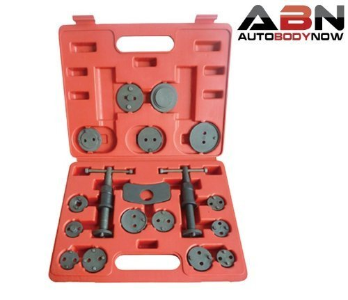 ABN Universal Front and Rear Caliper Disc Brake Screw-in Wind Back Rewind and Piston Compression 18-Piece Tool Kit Set