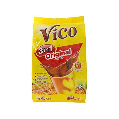 10 Pack Vico 3 in 1 Original Chocolate Malt Drink (10 x 18 sachets) Free Express Delivery