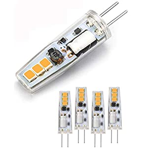 G4 LED Bulbs,Warm White 3000K AC/DC 12V (10-15W Halogen G4 Lamp Equivalent) Bi-Pin Base Energy Saving G4 LED Light Bulb…