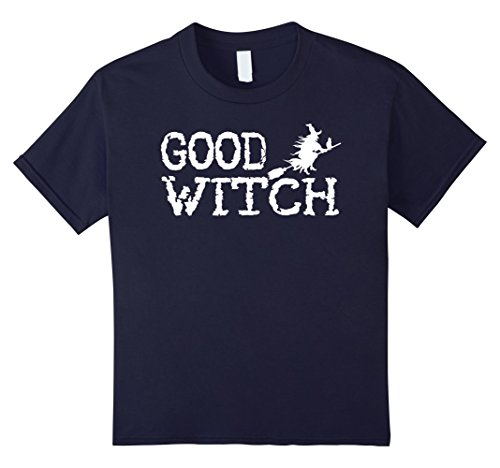 Kids Good Witch Halloween Shirt - Halloween Costume Idea 12 Navy (Good Halloween Costumes Ideas For Kids)