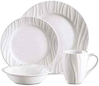 CORELLE Boutique Swept Embossed 16-pc Dinnerware Set  sc 1 st  Amazon.com & Amazon.com | Corelle Boutique Cherish 42-pc Dinnerware Set ...