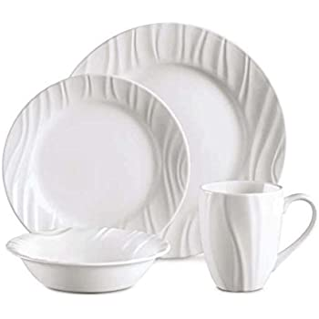 CORELLE Boutique Swept Embossed 16-pc Dinnerware Set  sc 1 st  Amazon.com & Amazon.com | CORELLE Boutique Swept Embossed 16-pc Dinnerware Set ...