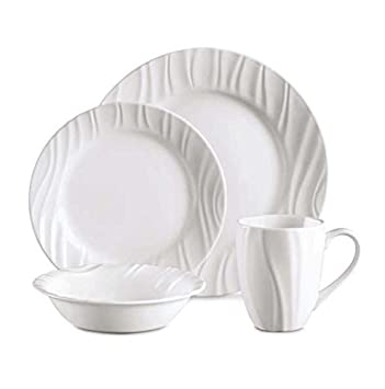 CORELLE Boutique Swept Embossed 16 Pc Dinnerware Set