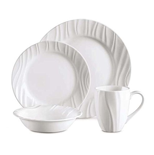 CORELLE Boutique Swept Embossed 16-pc Dinnerware Set (Corelle Embossed Dinnerware)