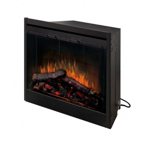 Dimplex BF45DXP 45-Inch Deluxe Built-In Electric Firebox with Resin Logs and Brick Backing by Dimplex